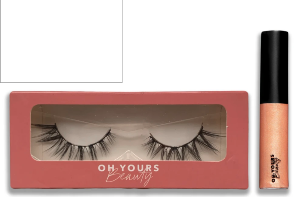 OhYours Beauty lashes and lipgloss