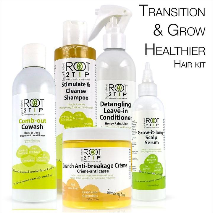 Root2Tip Transition and Grow Healthier Hair Kit for black hair during pandemic