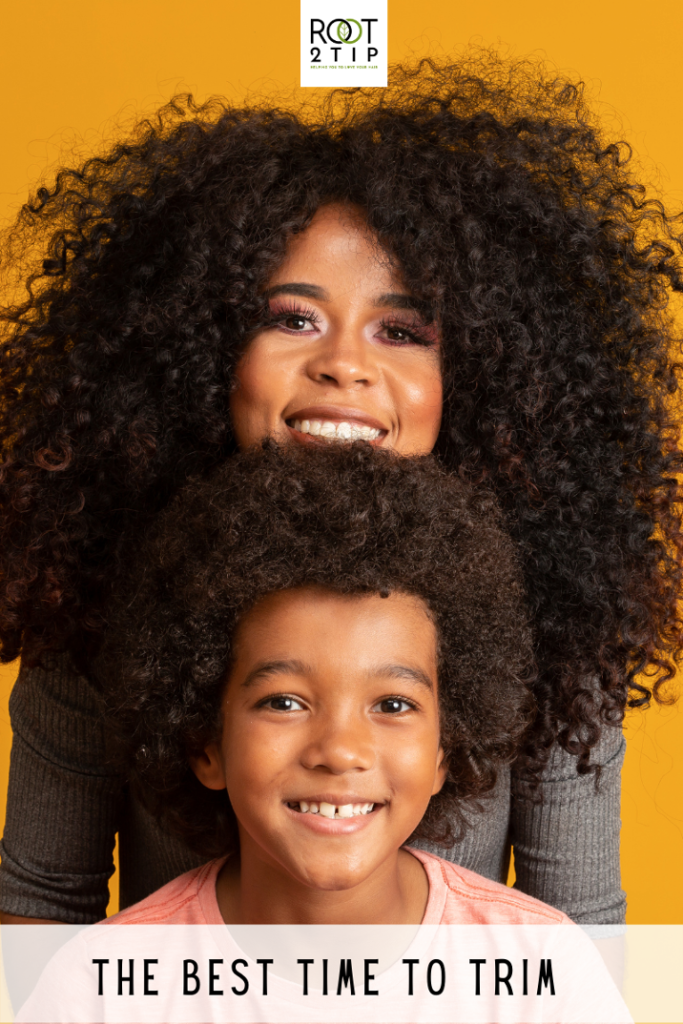 boy with mum afro and curly hair: when is the best time to trim