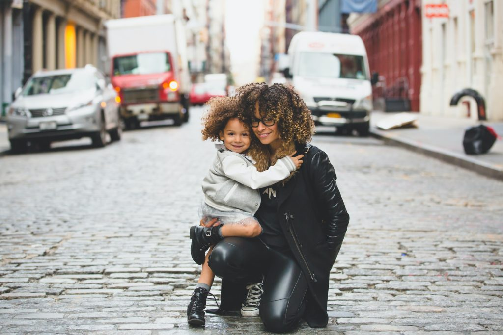 natural hair goals for kids: parent and child